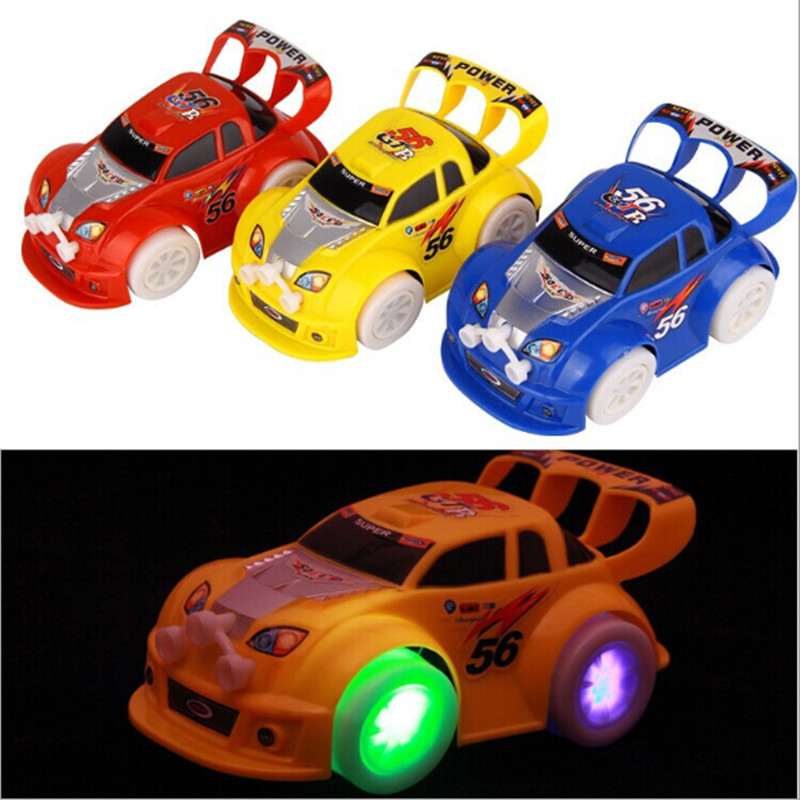 Stunning!! New Arrival LED Lighting Music Car Toys Mini Automatic Steering Car Kids' Favorite Childhood Toys Gifts(China (Mainland))