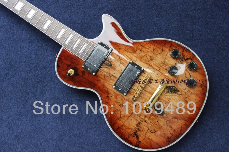 EMS Free Shipping !! Top Quality Guitar Factory G LP Custom Natural Wood Electric Guitar Hot Guitar In Stock(China (Mainland))