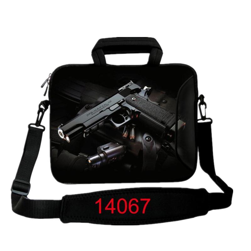 New Gun Print Computer Bag Notebook Smart Cover ipad MacBook Sleeve Case 10 12 13 14 15.6 17.3 inch Laptop Bags & Cases
