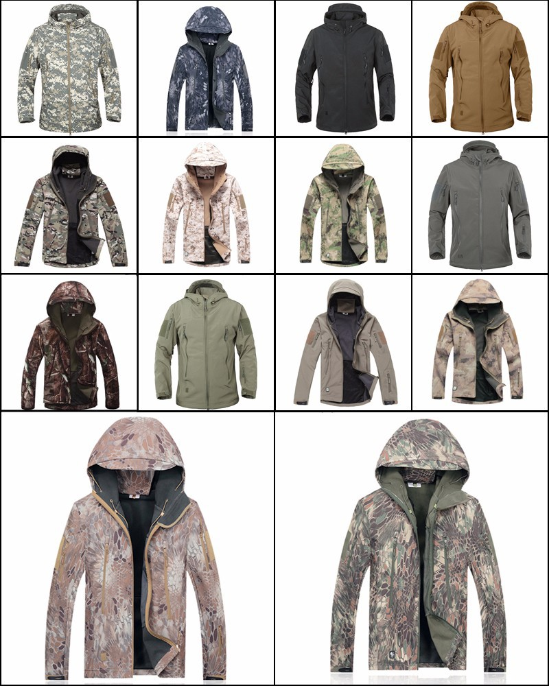 Army Camouflage Coat Military Jacket Waterproof Windbreaker Raincoat Hunting Clothes Army Jacket Men Outdoor Jackets And Coats