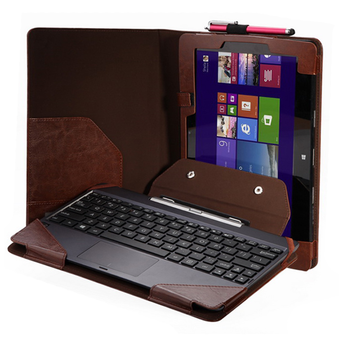 2016 Free Shipping High quality Mini New USB Triple Keyboard Leather Case+Pen For 10.1 ASUS Transformer Book T100TA Rainbow(China (Mainland))