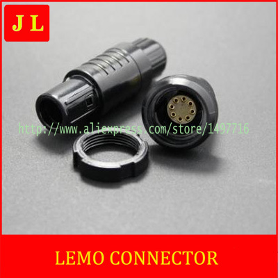 LEMO connectors 2P 8pin Plug socket PN;CKB.M08GLLG/CAB.M08.CLA.C**G,LED display special connector,Medical device connector(China (Mainland))