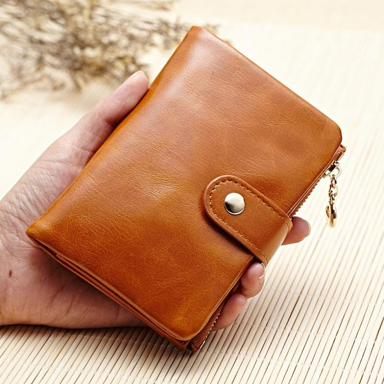 2015 new oil wax genuine cowhide leather mini short wallet ladies fashion vintage purse new men's wallets,ANS-PL-189(China (Mainland))