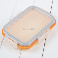 Food Container with Lid, Bento Lunch Box, Leak Proof, Microwave Safe, Tray with Lid, Dishwasher Safe-green Size S(China (Mainland))