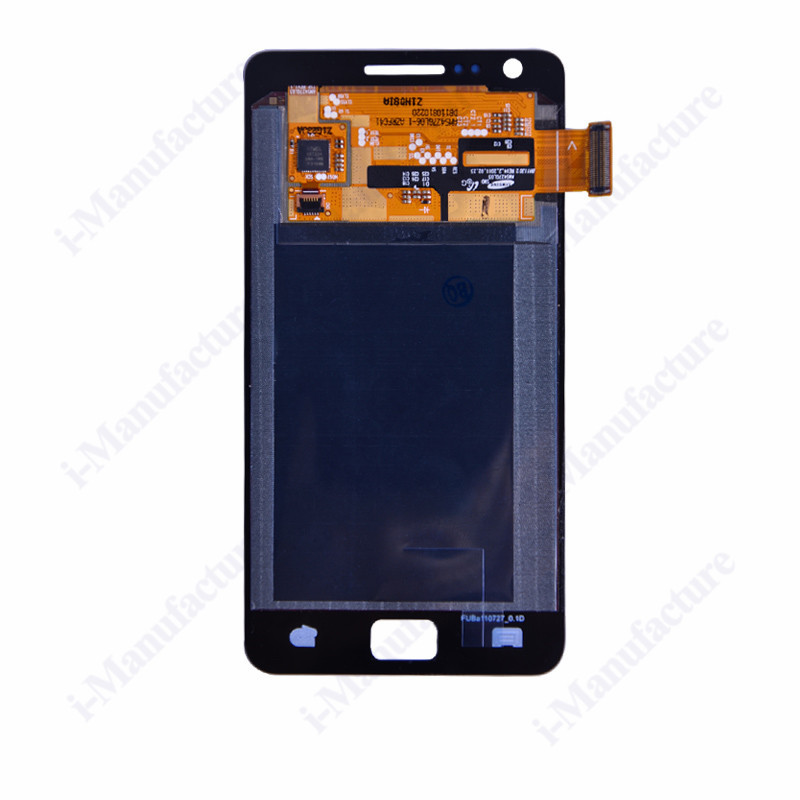 20Pcs/Lot Black - Parts For Samsung Galaxy S2 i9100 LCD Assembly Display Touch Screen Digitizer Replacements WITHOUT FRAME(China (Mainland))