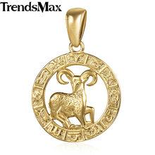 Trendsmax 12 signo do zodíaco constelações pingentes colares para mulheres 585 ouro rosa masculino jóias moda presentes de aniversário gpm16(Hong Kong,China)