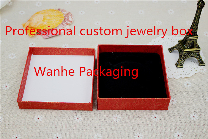9x9cm pink red paper jewelry box display,may custom jewelry packing box professional(China (Mainland))