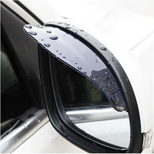 Car Rearview Mirror Rain Blades car back mirror eyebrow rain cover for ford focus 2 3 Hyundai solaris Mazda 2 3 6 CX-5 2Pcs(China (Mainland))