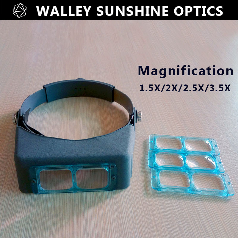 Optivisor Head Wearing Magnifier Magnifying Glass Eye Loupe Headset Watchmaker Repair Magnifying Glasses Headband Magnifier