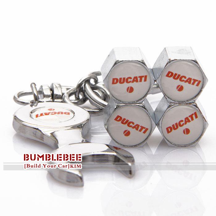 !(4PCS)metal Tire Valve Stem Caps easy DIY decoration,Car Logo emblem DUCATI,VC247-GX - Car power Online Store 722192 store