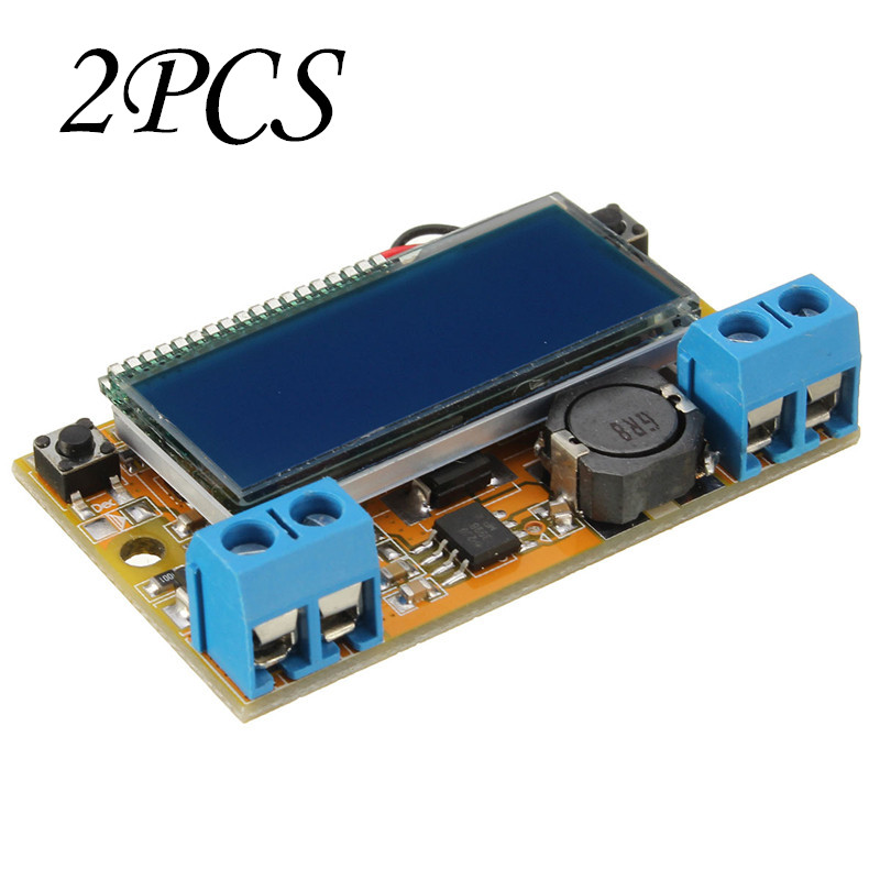 2PCS DC-DC Step Down Power Supply Adjustable Module With LCD Display Without Housing Case(China (Mainland))