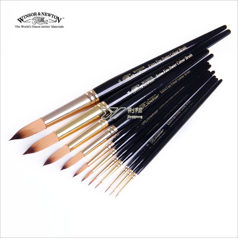 Windsor newton black rod nylon round toe crystallise watercolor paint brush acrylic paint brush single 117077 -(China (Mainland))