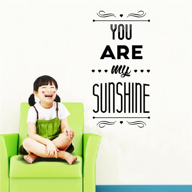 Бесплатная доставка 2015 новая цитата съемный на стены наклейки для гостиной дома солнце декор hot diy 8545 других стены искусства