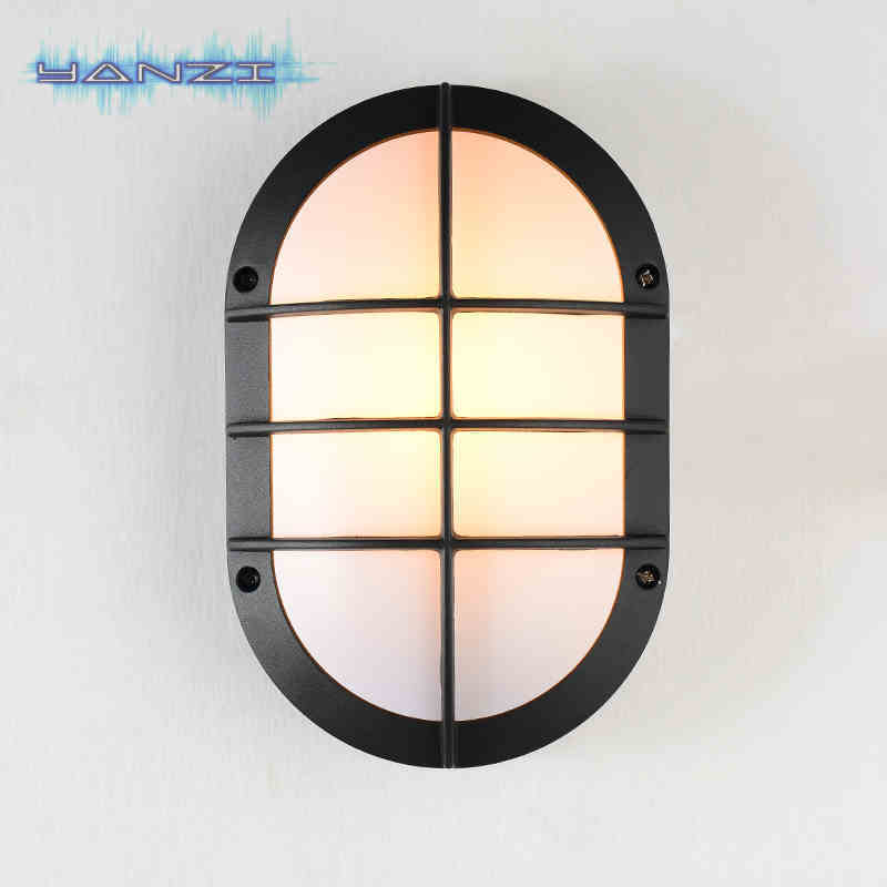 Dustproof And Waterproof Outdoor Wall Lamp 5W LED Bathroom Kitchen Balcony Aisle Lighting Lamp Garden Light Aluminum Wall Sconce(China (Mainland))