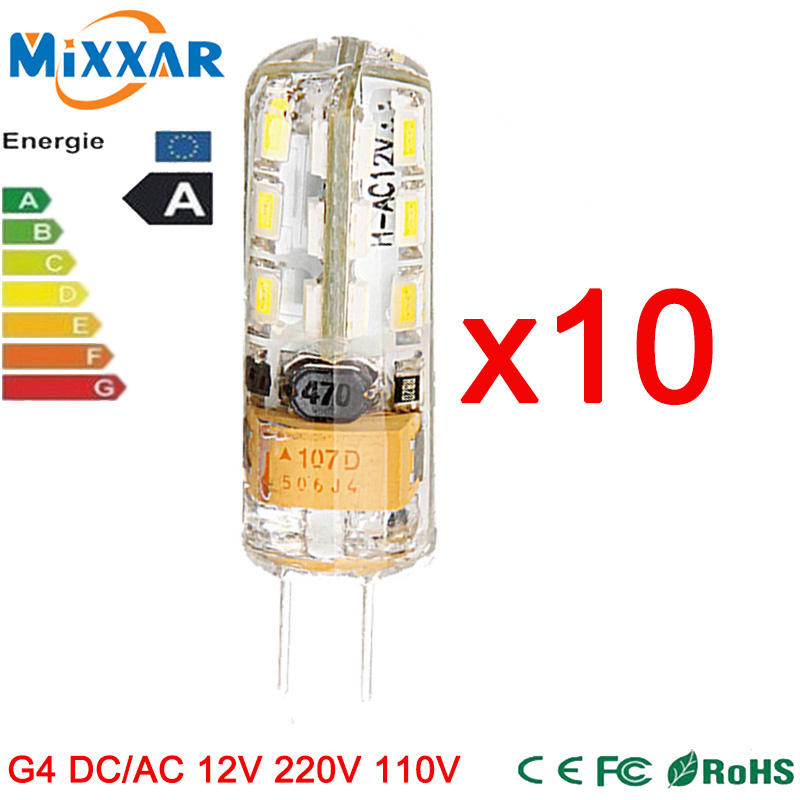 ZK30 10 pcs/lot 3W 4W 6W 7W 8W 10W Mini G4 LED Bulbs DC AC 12V 220V 110V LED Lamp LED G4 Lights Chandelier Lights G4 Lamps(China (Mainland))