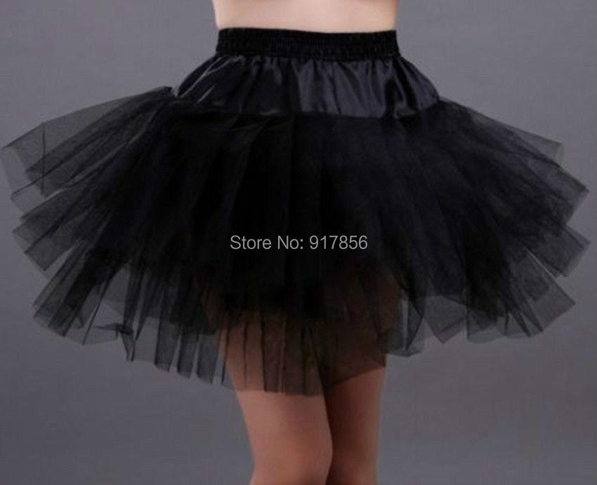 2015 New Black Short Wedding Petticoat Bridal Underskirt Women Crinoline Skirt Size 005 - Lucky_shop888 store