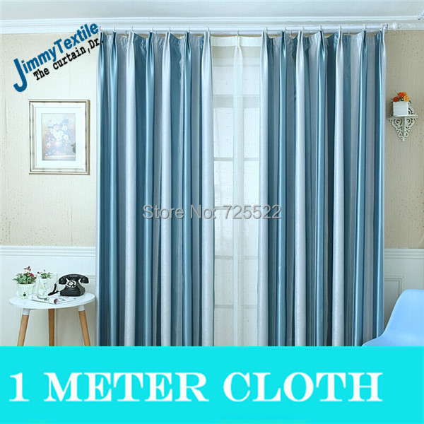 Promotion!New 2015 simple modern pure color blackout curtain living room sale 3 cortina - Huarlily Import & Export Co., Ltd. store