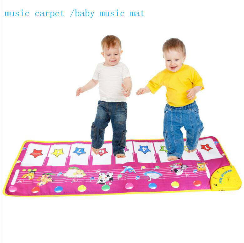 wholesale Foreign trade English musicrug On the piano keys big size baby music carpet /baby music mat /Baby Kid Children's toys(China (Mainland))