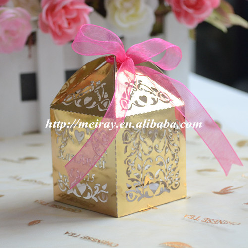 Wedding Gift Laser Cut Cheap Wedding Cake Boxesmetallic Gold Islamic Favors In Candy Boxes From