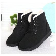 Frauen Stiefel Winter Wildleder Warme Pelz Stiefel Frauen Schuhe Feste Kurze Plüsch Frauen Schnee Stiefel Plus Größe 41 42 43(China)