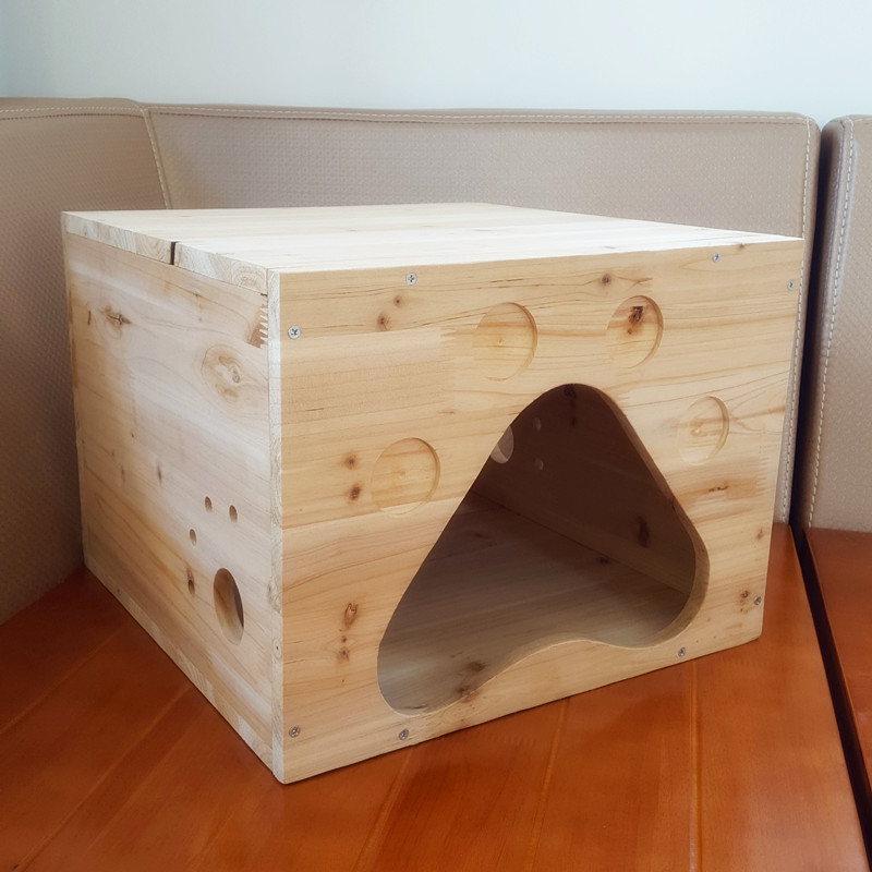 Wooden kennel/doghouse/cattery green cedarwood 40 x 40 x 30cm 4kg pet cage furniture for cat/dog(China (Mainland))