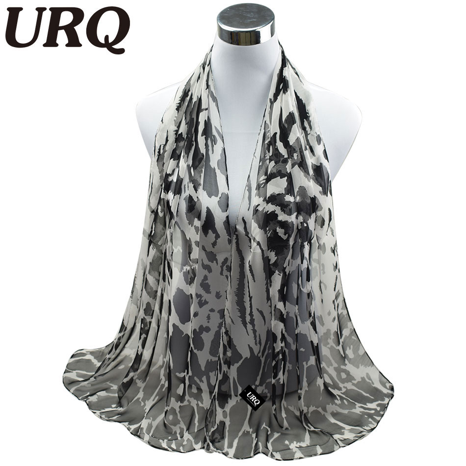 Long Chiffon Silk scarves 1PC 50*160cm Fashion Design Leopard Print Women winter scarves Hijabs Q5A16288(China (Mainland))