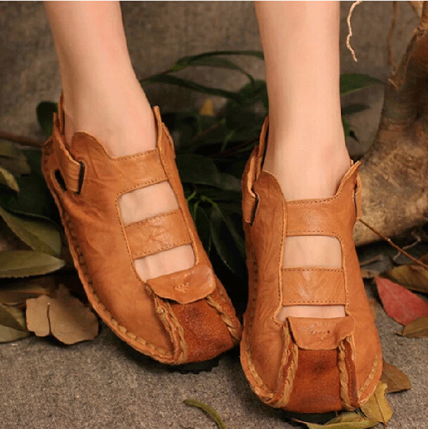 spring/autumn women shoes full grain leather casual soft single shoes mid-heels summer college flat shotes<br><br>Aliexpress