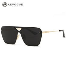 AEVOGUE Sunglasses Men Conjoined Spectacle Lens Rimless Copper Frame Summer Style Sun Glasses With Box UV400 AE0324