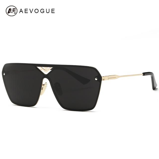 Aevogue очки мужчины соединяется очковых линз полуободковые меди кадр летний стиль солнцезащитные очки с коробкой UV400 AE0324