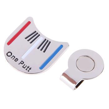 Открытый Сплава Гольф Выравнивание Целью Инструмент Мяч Маркер Магнитный Hat Клип Аксессуары Для Гольфа