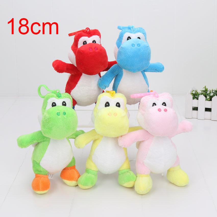 18cm Super Mario Bros Run Yoshi plush stuffed dolls Mario soft plush toy kids toys cartoon stuffed animal toys(China (Mainland))