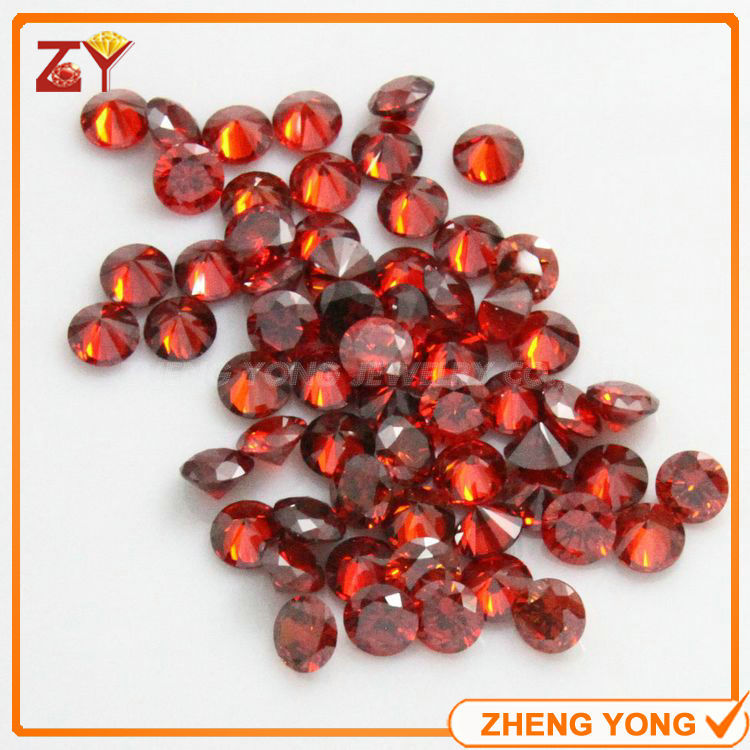 7.5mm Loose Cubic Zirconia Gemstone Orange Synthetic Cubic Zircon Stone Round(China (Mainland))