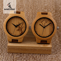 BOBO BIRD F29 Elk and Wolf Dial Face with Soft Leather Women Wooden Watches Fashion Casual