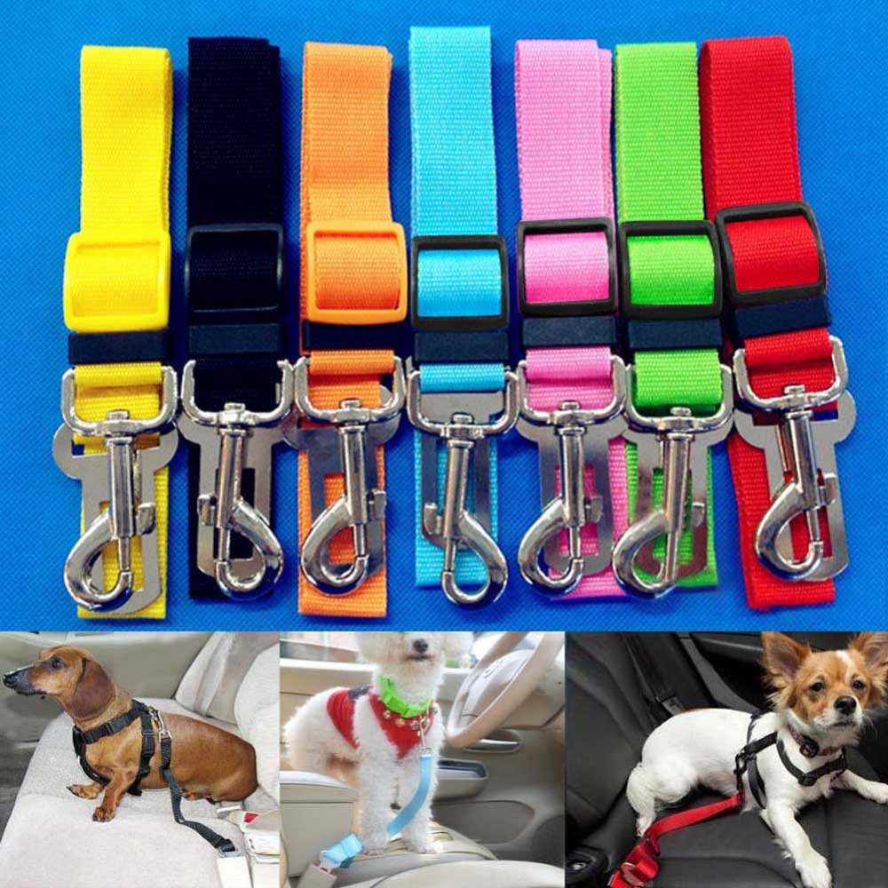 Car Pet Safety Leash Nylon Pet Dog Cat Collar Peppy Dog Harness Collar Adjustable Pet Safety Leash Rope Belt red color<br><br>Aliexpress