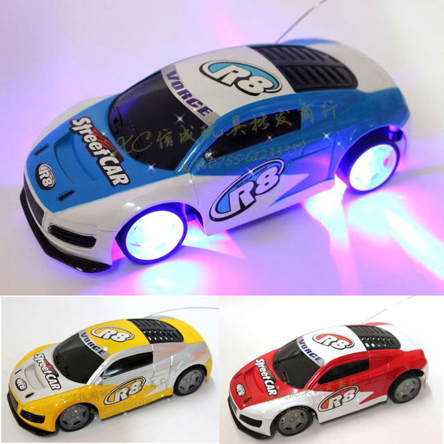 1:24 control car toys 4 chanenals mini remote car charge Drift with light colorful free shipping