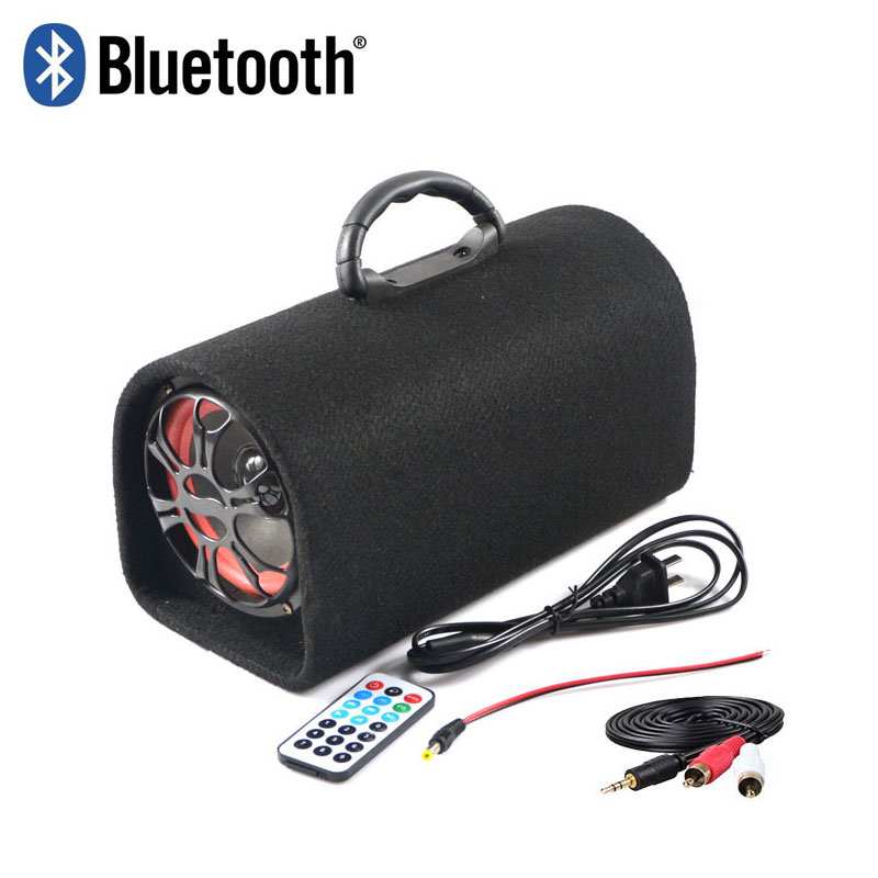 5inch universal 12v 24v 220v bluetooth active subwoofer car subwoofer Peak power 120 W With remote control USB Interface