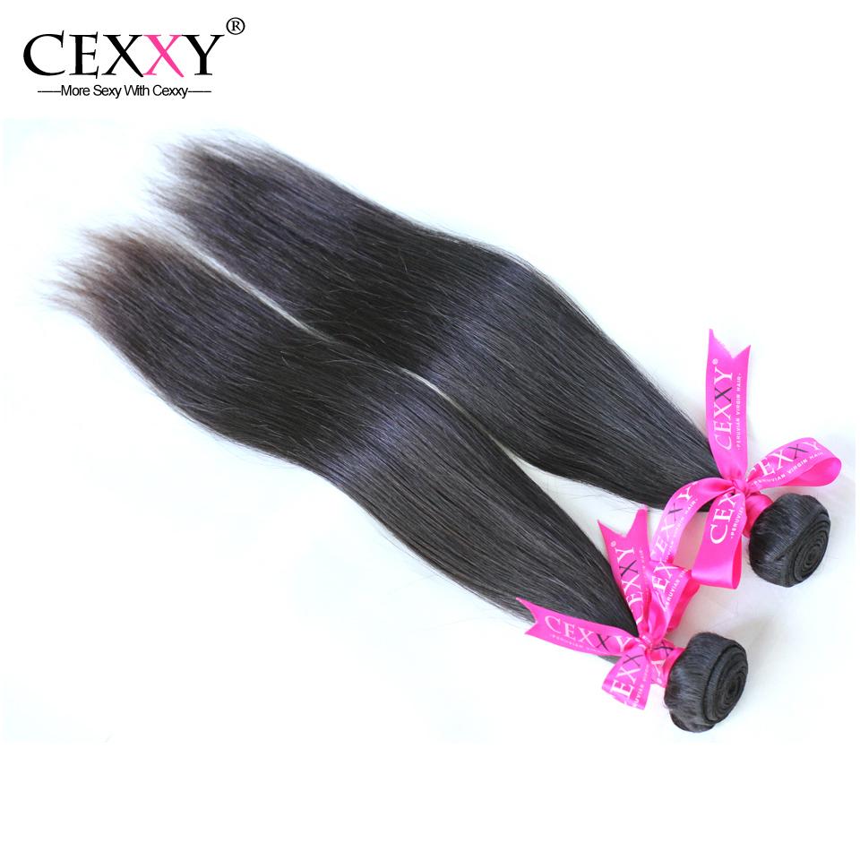 Cexxy Hair Virgin Peruvian Straight Virgin Hair Weaves Natural Color 6A Unprocessed 2pcs Lot Free Shipping(China (Mainland))
