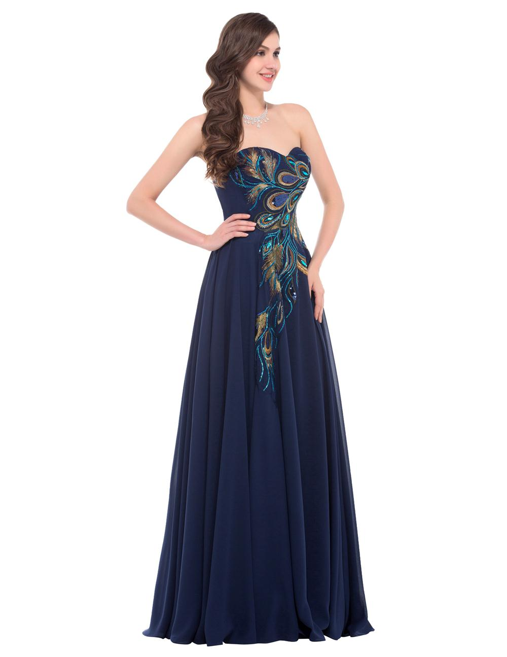 Buy 2016 navy blue cheap long peacock for Navy plus size dress for wedding