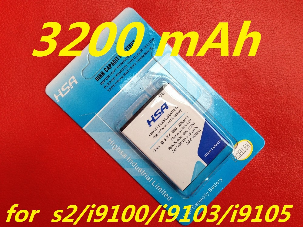 3200mAh EB-F1A2GBU / EB F1A2GBU High Capacity Battery Use for SAMSUNG Galaxy S2 I9100 9100 i9100g i9103 i9105 I9108 i9050 i9188(China (Mainland))