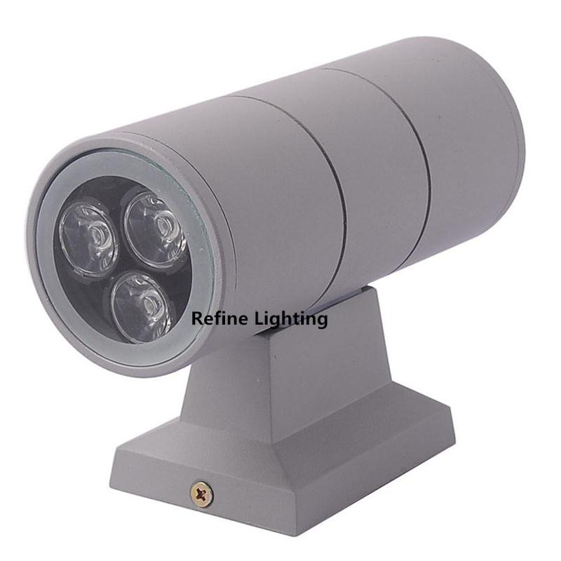 Outdoor porch lighting 6w 2 3 1w up and down led for Lampe exterieur led design