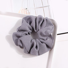 Bandas elásticas para el cabello de tela escocesa de red dulce coreana corbatas para el cabello para niñas coleta mujer porta anillos para el cabello accesorios para el cabello(China)