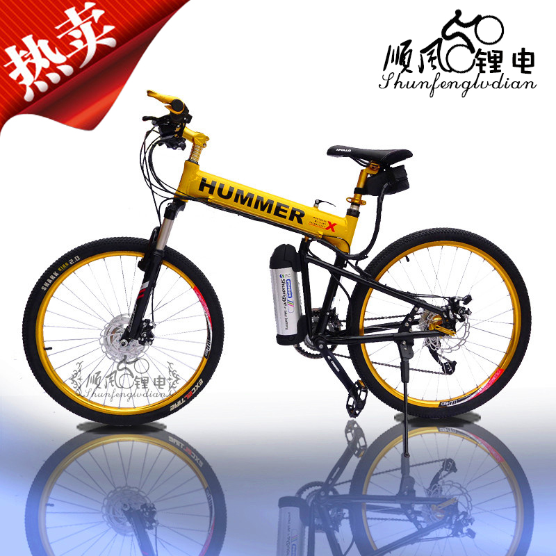26 inch electric bicycle mountain 27speed 48v 12a 350w lithium battery before the drive motor(China (Mainland))