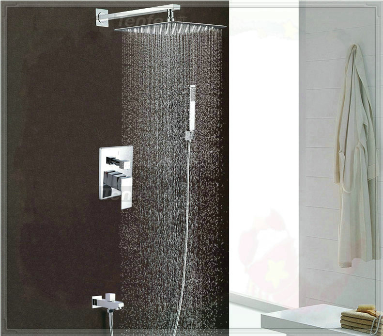 """3-way shower set pre-install shower box panel with arm stainless steel 10""""shower head 7003A touch faucet(China (Mainland))"""