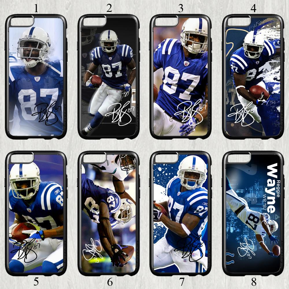 Reggie Wayne signed NFL star fashion original cell phone case cover for iphone 6 plus (5.5 inch) protection back cover(China (Mainland))