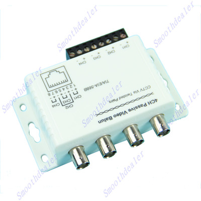G104 4 Ch Passive Receiver Transmitter Video Balun For CCTV Over UTP Cable(China (Mainland))
