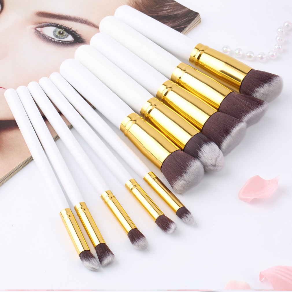 Pcs Professional Beauty Makeup Brush Sets Soft Synthetic
