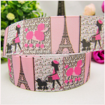 free shipping 22mm printed grosgrain ribbon,Clothing accessories accessories, wedding gift wrap ribbon, MD51010