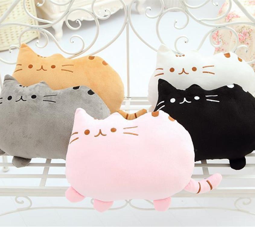 Cute Big Cat Plush Toy Pillow : 40*30cm Plush Toys Cute Meow Big Face Cat Cushion Pillow Doll Big Cat Cushions Lanmao Star ...