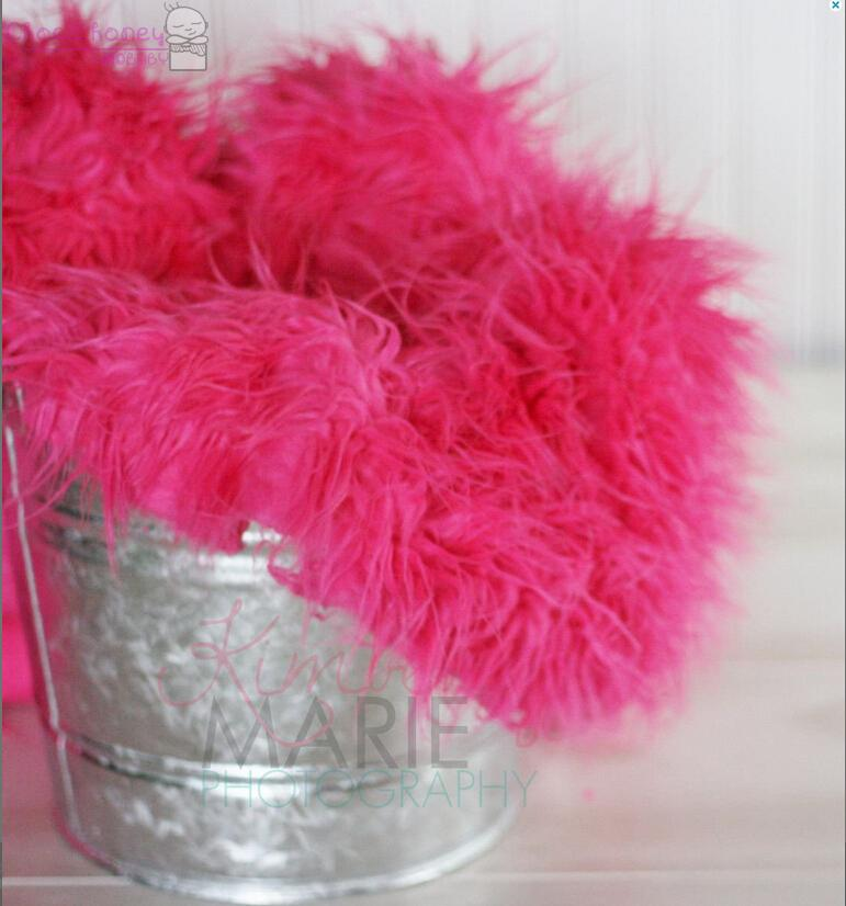 Hot Pink Mongolian Faux Fur Rug Nest Photography Photo