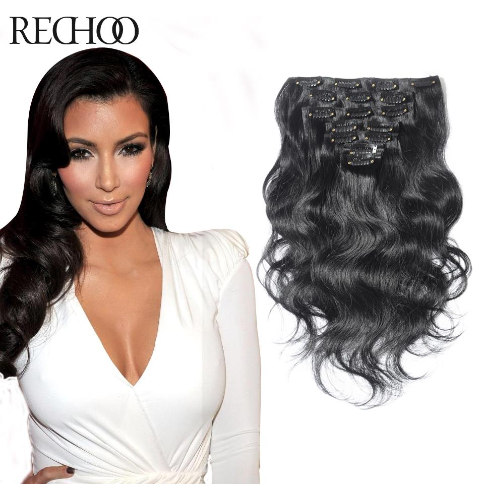 Wavy Hair Extensions Human Hair Clip In 51